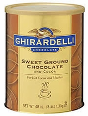 "Ghirardelli Chocolate - ""Sweet Ground Chocolate and Cocoa"" Premium Baking Cocoa, 1.3kg/48oz."