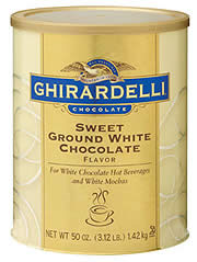 "Ghirardelli Chocolate - ""Sweet Ground White Chocolate "", 1.3kg/48oz."