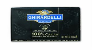 "Ghirardelli Chocolate - ""Unsweetened Chocolate"" Premium Baking Bar, 100% Cocoa, 113g/4oz. (12 Pack)"