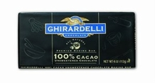 "Ghirardelli Chocolate - ""Unsweetened Chocolate"" Premium Baking Bar, 100% Cocoa, 113g/4oz."