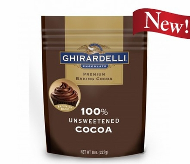 "Ghirardelli Chocolate - ""Unsweetened Cocoa"" Premium Baking Cocoa, 227g/8oz. (Single)"