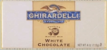 "Ghirardelli Chocolate - ""White Chocolate"" Premium Baking Bar, 113g/4oz.  (6 Pack)"