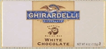 "Ghirardelli Chocolate - ""White Chocolate"" Premium Baking Bar, 113g/4oz."