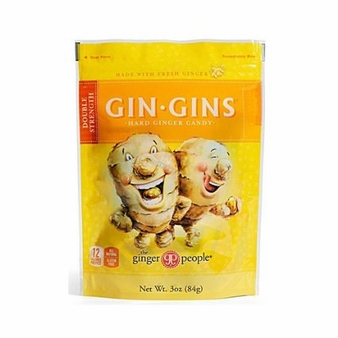 Gin Gins- Double Strength Hard Candy, 3oz/84g (6 Pack)