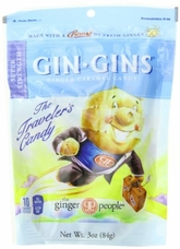 Gin Gins- Super Strength Ginger Candy, 3oz/84g (6 Pack)