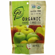 Go Organic Hard Candies- Apple, 3.5oz/100g (6 Pack)