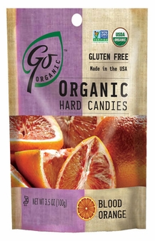 Go Organic Hard Candies- Blood Orange, 3.5oz/100g (Single)