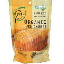 Go Organic Hard Candies- Honey, 3.5oz/100g (6 Pack)