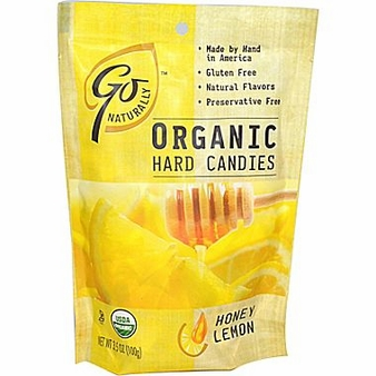Go Organic Hard Candies - Honey Lemon 3.5oz/100g (6 pack)
