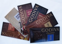 Godiva 6 Bar Bundle - Variety of Six 3.5oz/100g Bars (Single)
