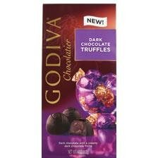 "Godiva Chocolate - 12 pc. Godiva ""Dark Chocolate"" Truffle Gems, 4.0oz./113g  (Single)"