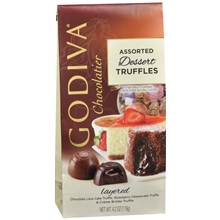 "Godiva Chocolate - 12 pc. Godiva ""Assorted Dessert Truffles"" Truffle Gems, 4.2oz./119g  (6 Pack)"