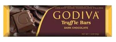 "Godiva Chocolate - ""Dark Chocolate Truffle Bar"" Dark Chocolate with Creamy Dark Chocolate Filling, 42g/1.5oz (Single)"