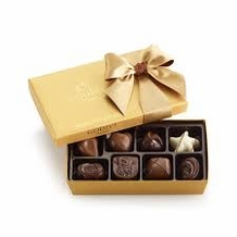 Godiva Chocolate-Godiva Chocolatier Gold Ballotin Belgian Chocolates Gift Box 8 Pieces 3.4 oz / 96g  (Single)