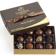 Godiva Chocolate-Godiva Chocolatier Dark Chocolate Truffles Belgian Chocolates Gift Box 12 Pieces 8.0oz /228g  (Single)