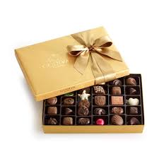 Godiva Chocolate-Godiva Chocolatier Gold Ballotin Belgian Chocolates Gift Box 36 Pieces 14.6 oz /414g