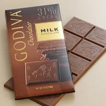 "Godiva Chocolate - ""Milk Chocolate Bar"", 31% Cocoa, 100g/3.5oz. (5 Pack)"