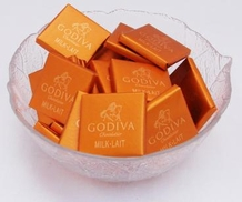 Godiva Chocolate - Milk Chocolate Tasting Squares, (30 Piece Bag )