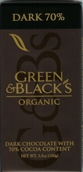 Green & Black�s Organic Chocolate - Dark Chocolate Bar, 70% cocoa, 100g/3.5oz. (10 Pack)