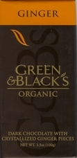 "Green & Black�s Organic Chocolate - Dark Chocolate with Crystallized ""Ginger"" Pieces, 60% cocoa, 100g/3.5oz (10 Pack)"