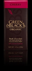 "Green & Black�s Organic Chocolate - Dark Chocolate with Whole ""Cherries"", 60% cocoa, 100g/3.5oz"