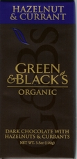 Green & Black�s Organic Chocolate - Hazelnut & Currant Bar, 100g/3.5oz.(Single)