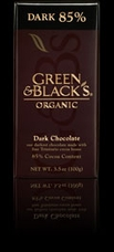 "Green & Black's Organic Chocolate - Intense Dark Chocolate, ""85% cocoa"", 100g/3.5oz (Single)"