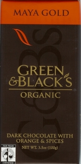 "Green & Black's Organic Chocolate - Maya Gold ""Fair Trade"" Dark Chocolate Bar, 100g/3.5oz. (10 Pack)"