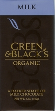Green & Black�s Organic Chocolate - Milk Chocolate Bar, 34% Cocoa, 100g/3.5oz.(Single)