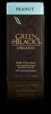 "Green & Black's Organic Chocolate - ""Milk Chocolate with Caramelized Peanuts"", 37% Cocoa, 100g/3.5oz.(Single)"