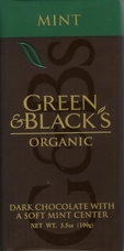 Green & Black�s Organic Chocolate - Mint & Dark Chocolate Bar 100g/3.5oz.(Single)
