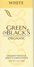 Green & Black's Organic Chocolate - White Chocolate Bar, 100g/3.5oz.(Single)