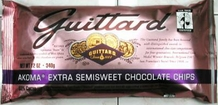 "Guittard Chocolate - ""AKOMA Extra Semisweet Chocolate Chips"", 55% Cocoa, 12oz./340g"