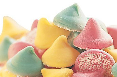 "Guittard Chocolate - ""Assorted Mint Nonpareils"" Pink, Green and Yellow, 25 Pound Case"