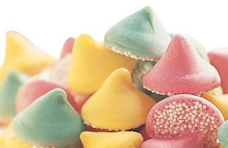 "Guittard Chocolate - ""Assorted Mint Nonpareils"" Pink, Green and Yellow, 1 Pound, Repackaged."