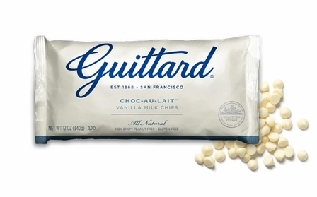 "Guittard Chocolate - ""Choc-Au-Lait"" White Chocolate Chips, 12oz./340g"