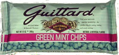 "Guittard Chocolate - ""Green Mint Chips"", 12oz./340g"