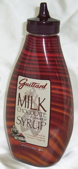 """Guittard Chocolate - """"Milk Chocolate"""" Flavored Syrup, 411g/14.5oz."""