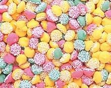 "Guittard Chocolate - ""MINI Assorted Mint Nonpareils"" Pink, Green and Yellow, 1 Pound Bag, Repackaged"