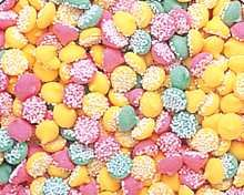 "Guittard Chocolate - ""MINI Assorted Mint Nonpareils"" Pink, Green and Yellow, 5 Pound Bag"