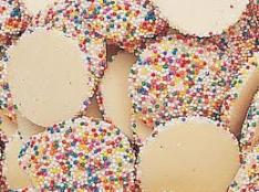 "Guittard Chocolate - ""Vanilla Flavored Wafers with Assorted Nonpareils"", Repackaged, 2lb Bag (Single)"