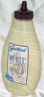 """Guittard Chocolate - """"White Chocolate"""" Flavored Syrup, 411g/14.5oz."""
