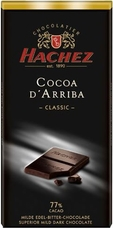 Hachez 77% Cocoa D'Arriba Classic, Superior Mild Dark Chocolate, 100g/3.5oz (Single)