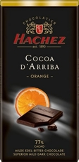 Hachez 77% Cocoa D'Arriba Orange Chocolate, Superior Mild Dark Chocolate, 100g/3.5oz (Single)