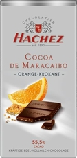 Hachez Milk Chocolate Orange Crunch, D'Maracaibo, 55% Cocoa, 100g/3.5oz