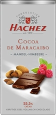 Hachez Milk Chocolate Raspberry Almond Crunch, D'Maracaibo, 55% Cocoa, 100g/3.5oz (Single)