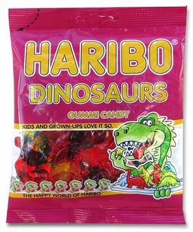 Haribo Dinosaurs 5oz./142 grams SINGLE