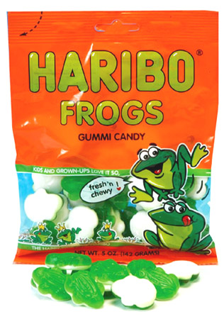 Haribo Frogs 5oz./142 grams (6 pack)
