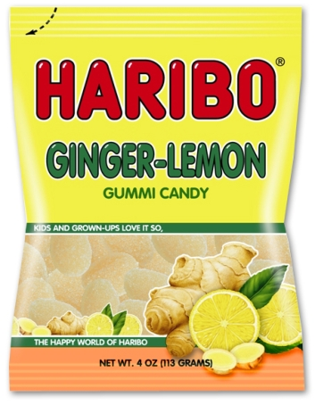 Haribo Ginger Lemon 4oz./113 grams (12 pack)