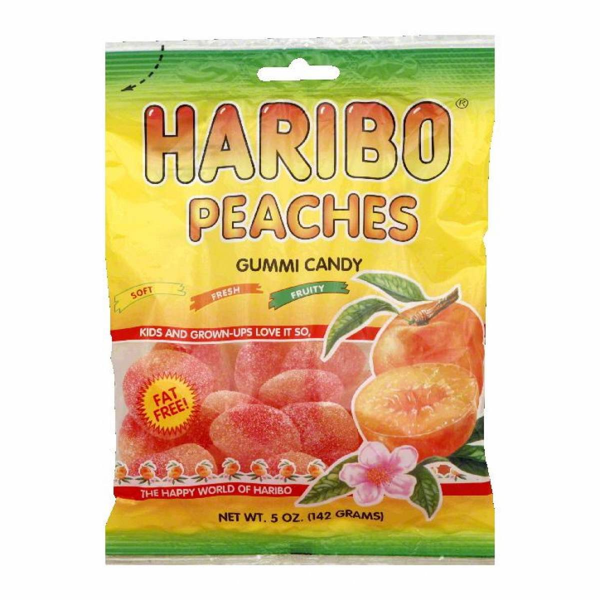 Haribo Peaches 5oz./142 grams (12 pack)